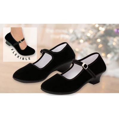 Velvet Mary Jane Shoes