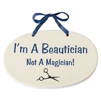 Beautician Professional Plaque