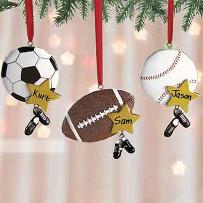Personalized Sports Ball Ornament