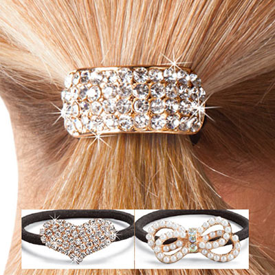 Blinged Out Ponytail Holders