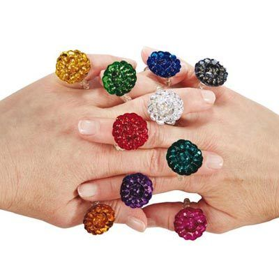 Bali Floral Beaded Rings