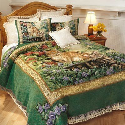 Purrfect Pair Tapestry Coverlet & Accessory