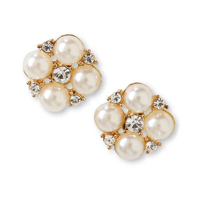 Pearl & Crystal Earrings