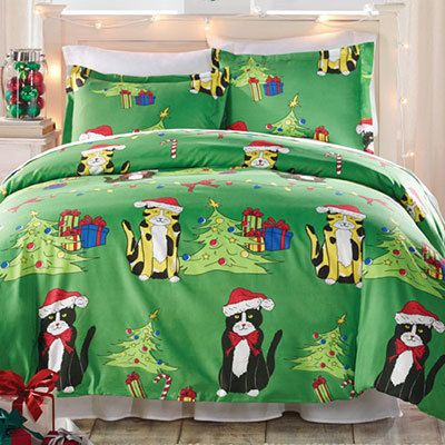 Meow-y Christmas Duvet Set