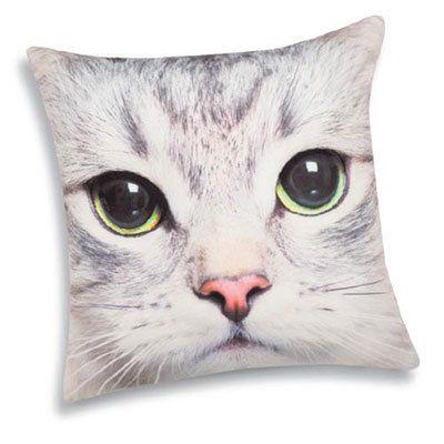 Sophisti-Cat Pillow Cover - White Cat
