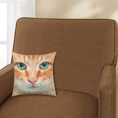 Sophisti-Cat Pillow Cover - Orange Tabby