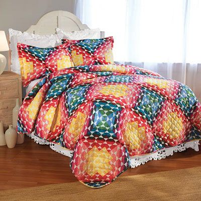 Rainbow Block Quilt Set
