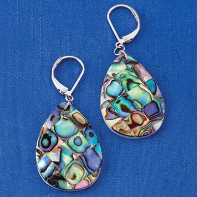 Shimmering Abalone Earrings