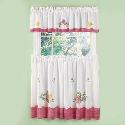 Floral Bouquet Café Curtains