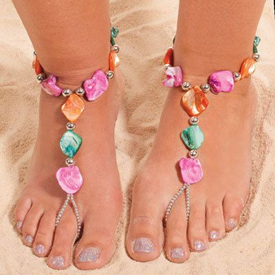 Colorful Splash Barefoot Sandal