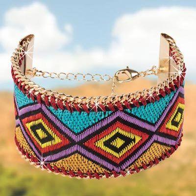 Aztec Ribbon Bracelet