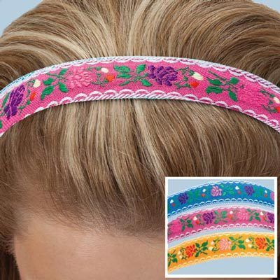 Embroidered Floral Headbands