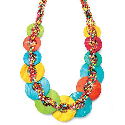 Island Colors Bead & Shell Necklace