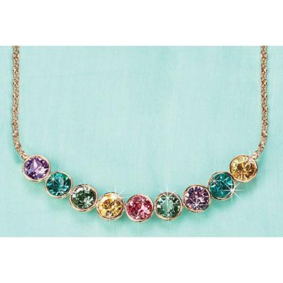 Rainbow of Jewels Necklace