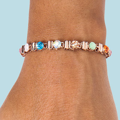 Pastel Gems Tennis Bracelet