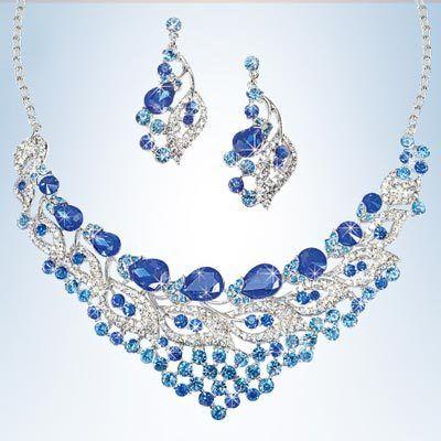Royal Blue Bling Jewelry Set