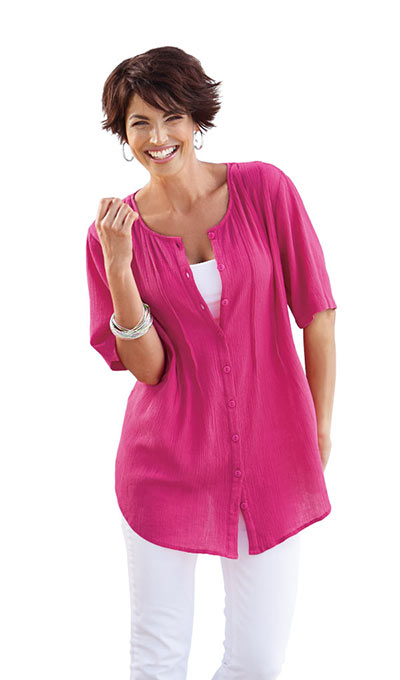 Fabulous Tunic Top - Fuchsia