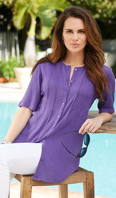 Fabulous Tunic Top - Purple