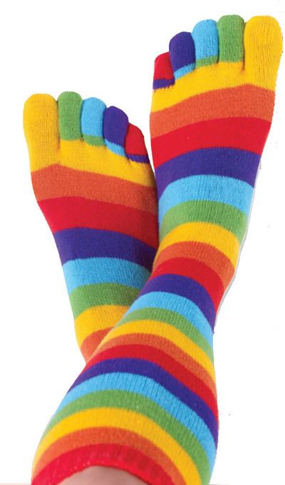 Rainbow Toe Socks