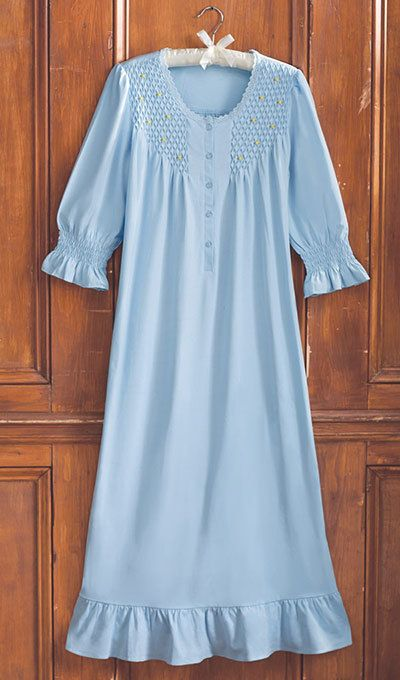 Smocked Rosebud Nightgown