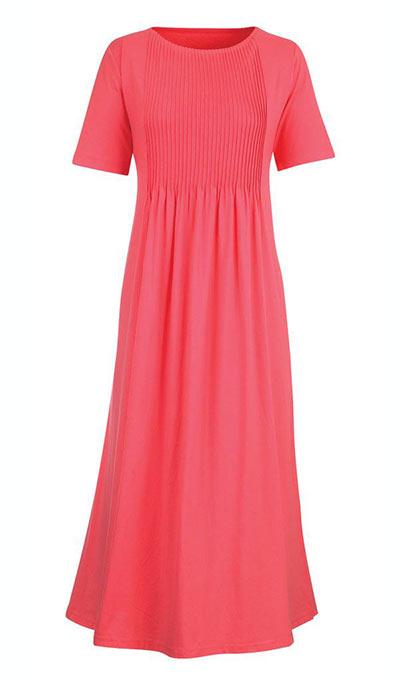 Neat Pleat Dress - Pink