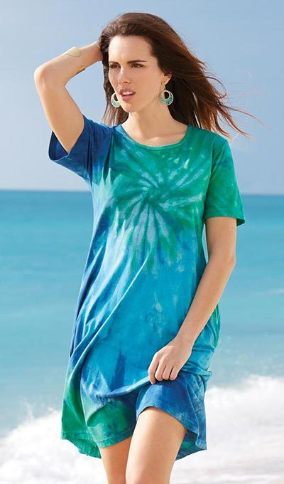 Tie-Dyed Tee Cover-Up
