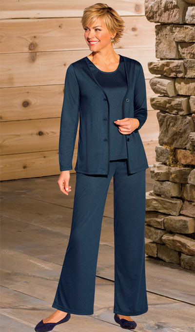 Classic 3-Piece Pant Set - Navy