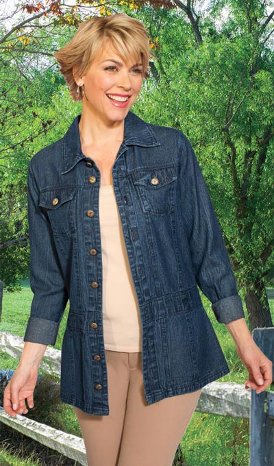 Flattering Flare Denim Jacket