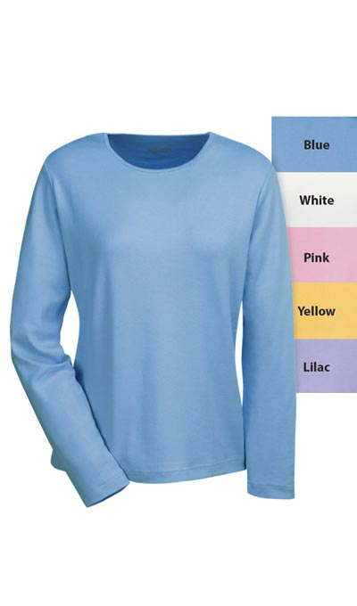 The Classic Long Sleeve Cotton Tee - Blue