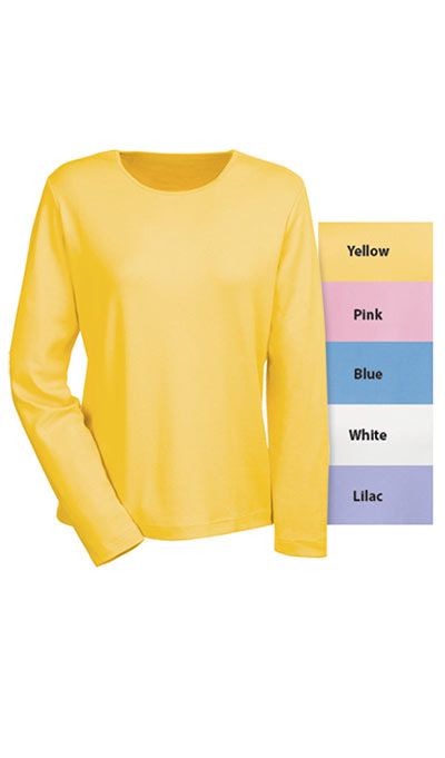 The Classic Long Sleeve Cotton Tee - Yellow