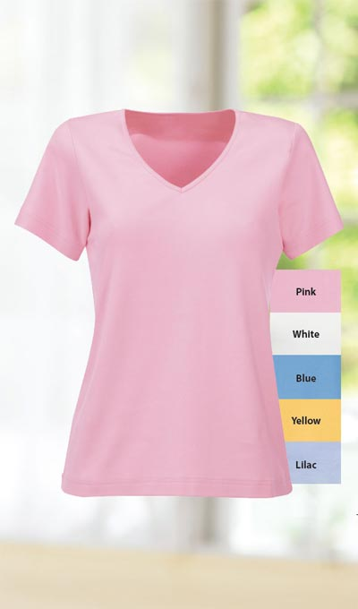 The Classic Cotton V-Neck Tee