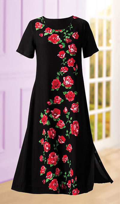 Garden of Red Roses Dress