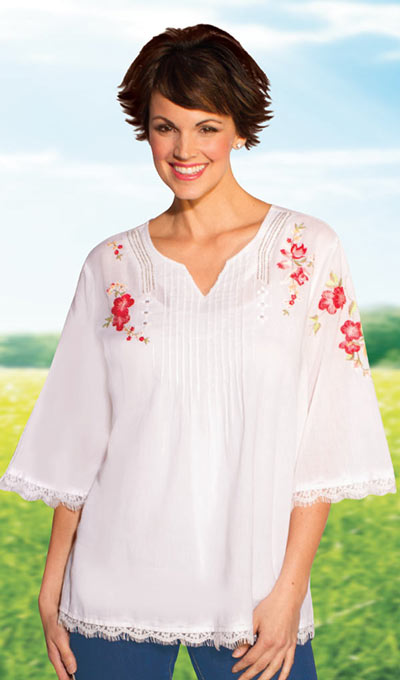Sweet English Garden Top