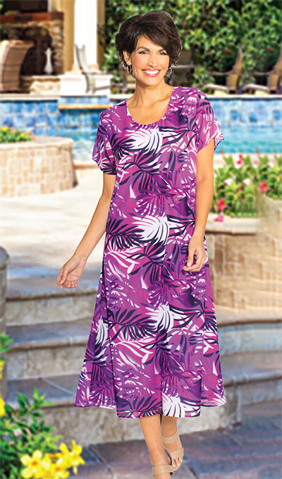 Tropical Georgette Dress