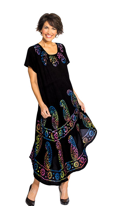 Rainbow Etching Swing Dress
