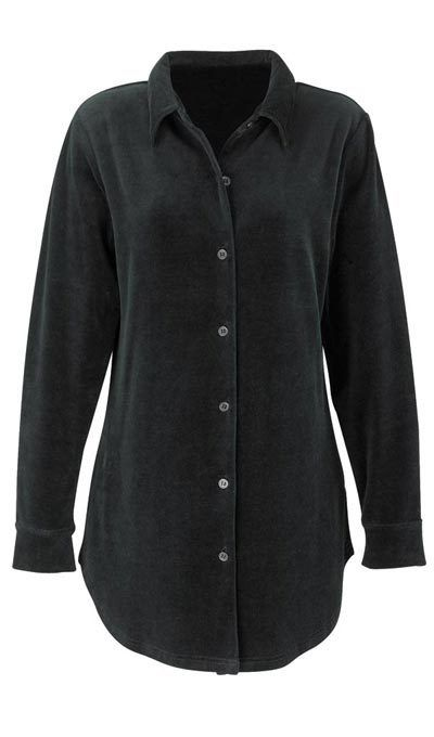 The Classic Stretch Velour Shirt