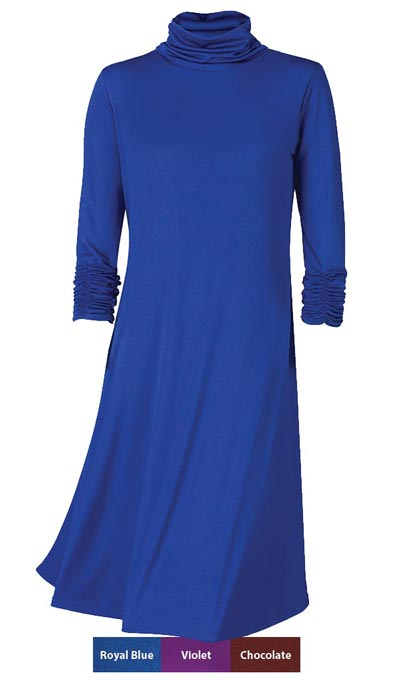 Easy-Wear Ruched Neck Dress