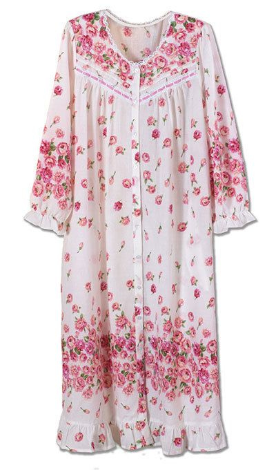 Garden Rose Pintuck Robe
