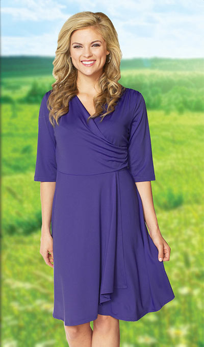 Slimming Petal Dress - Purple