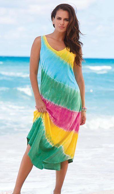 Rainbow Tie-Dyed Maxi Dress
