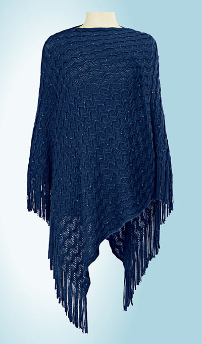 Sequin Embellished Poncho