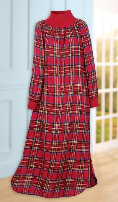 Plaid Flannel Zip Robe