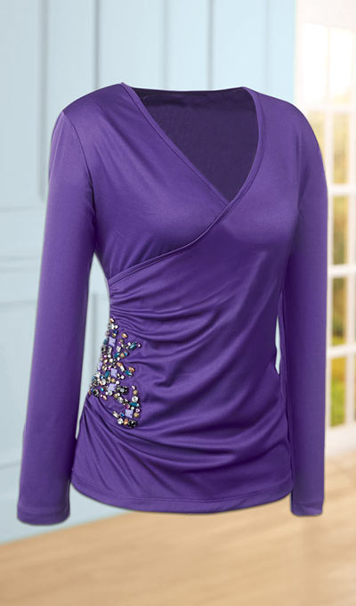 Slenderizing Embellished Top