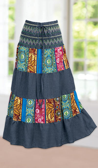 2-in-1 Bohemian Skirt