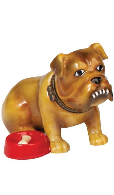 Porcelain Dog Trinket Box - Bulldog