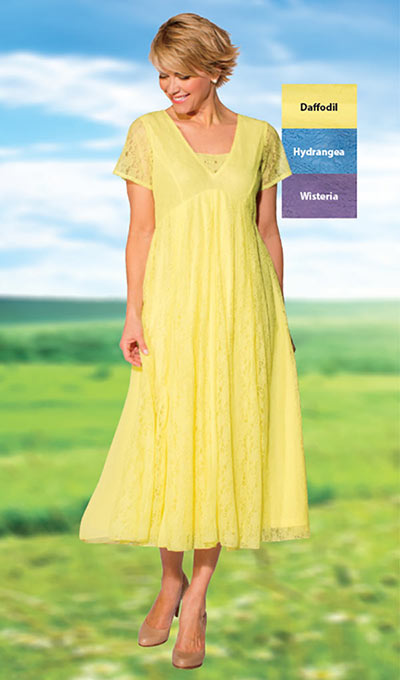 Effortless Lace Dress - Daffodil