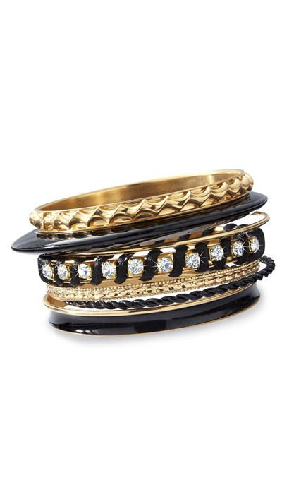 Black & Gold Bangles Set