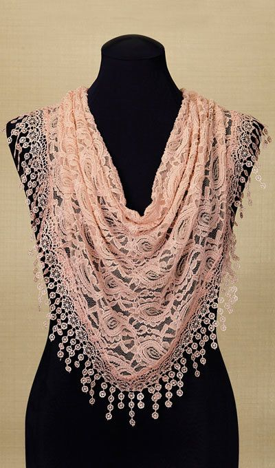 Lace Droplets Scarf