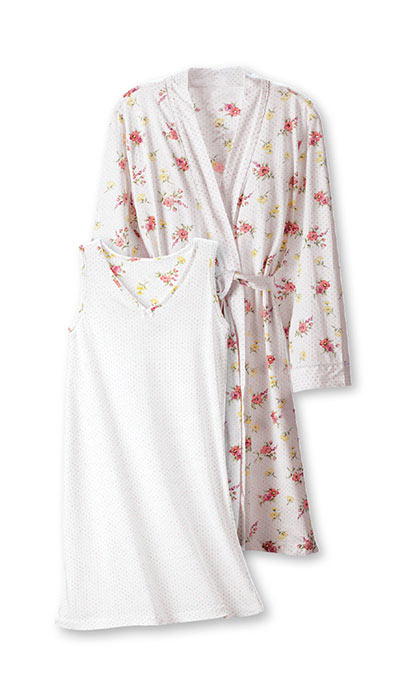 Rosebud Nightgown & Robe Set