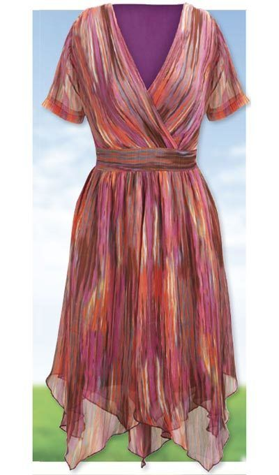 Whisper Scarf Hem Dress